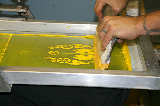 Printing the yellow